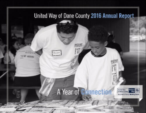 United Way of Dane County 2016 Annual Report cover