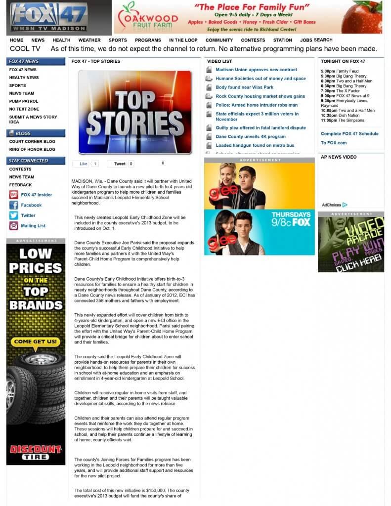 WMSN FOX 47 :: Newsroom - Top Stories - Dane County unveils