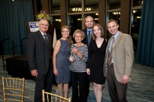 The Wolter Family: (L to R) Gary Wolter, Mari Wolter, Luella Polfer, Ben Wolter, Catherine Hennessey Wolter, and Mike Wolter.